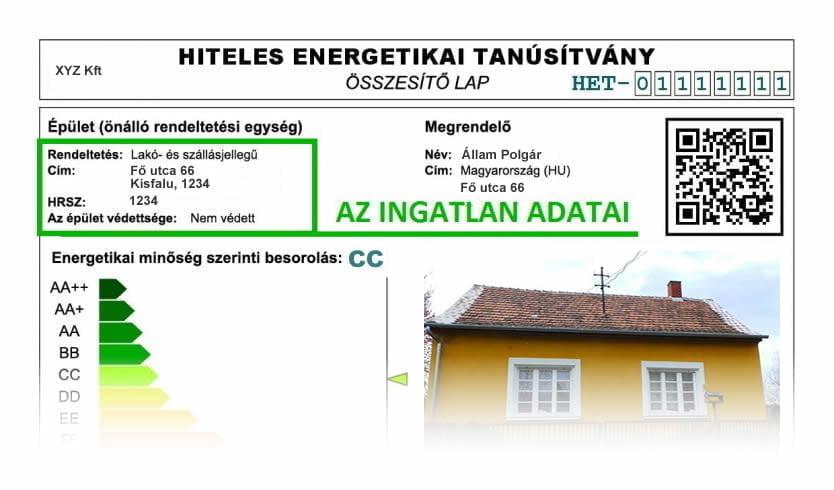 Energetikai Tanúsítvány Minta